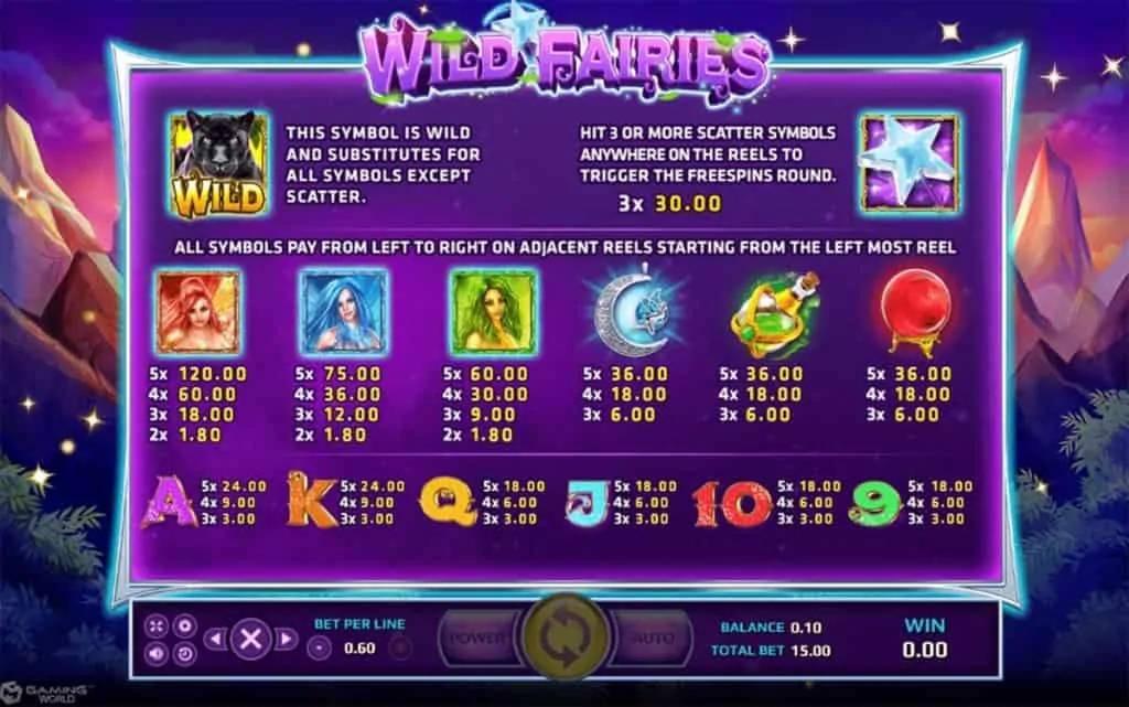 Wild Fairies คาสิโนสล็อต