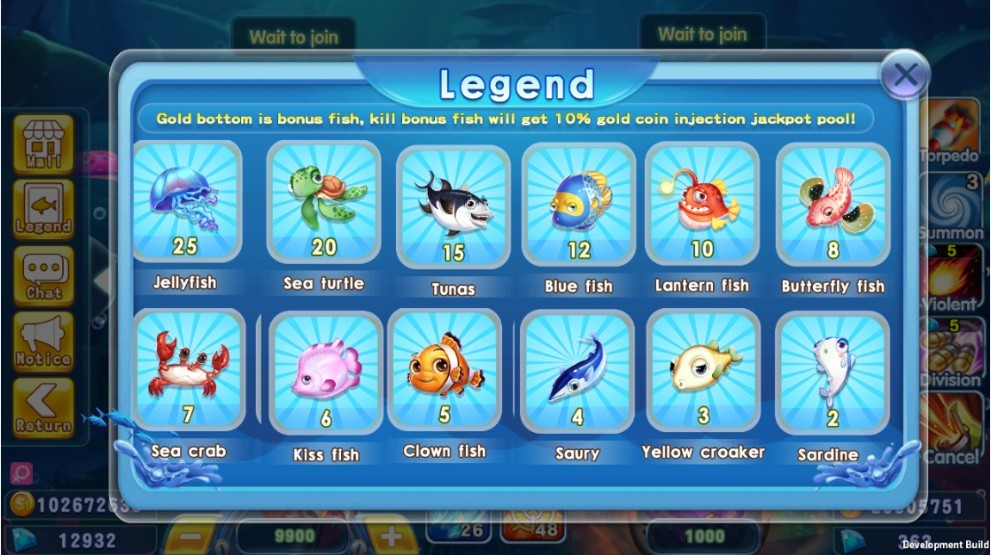 Lucky Fish เล่นเกมพนันออนไลน์